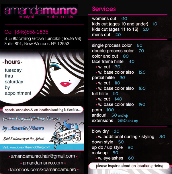 Amanda Munro Hairstylists Makeup Artists